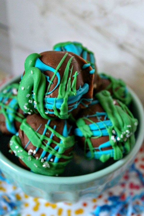 Earth Day Cake Balls