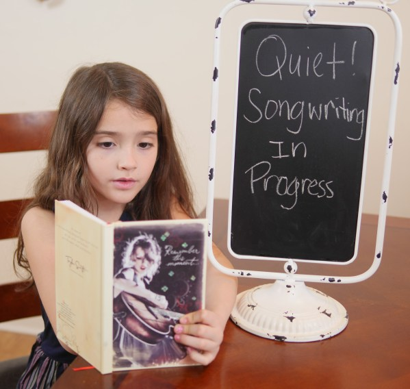 Musical Activities Families Will Enjoy - Quiet, songwriting in progress - Theresa's Reviews