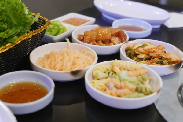 Honey Pig BBQ Restaurant starters on Korean Way - Theresa's Reviews