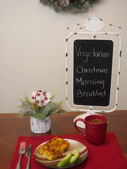 #ad Vegetarian Christmas Morning Casserole with @morningstarfrms - Theresa's Reviews #VeryVeggieHoliday #MorningStarFarms #CollectiveBias