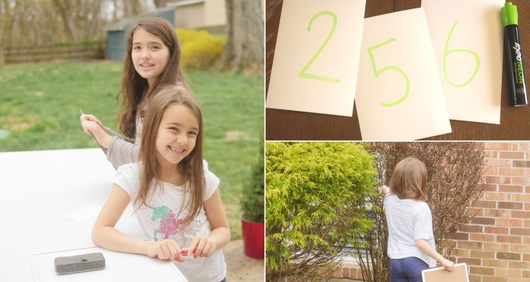 Backyard Math Scavenger Hunt