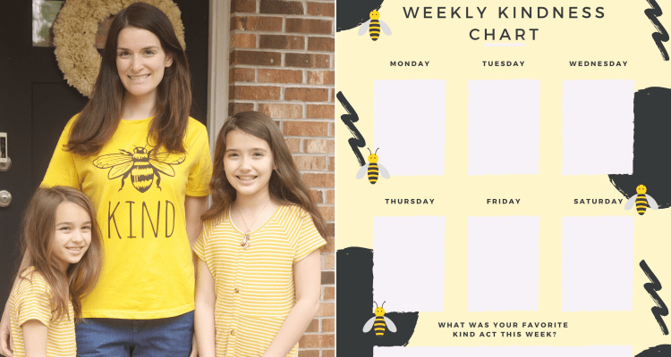 FREE Weekly Kindness Chart Printable