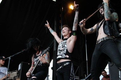 Jake Pitts + Andy Biersack + Jinxx of Black Veil Brides at Chicago's Warped Tour