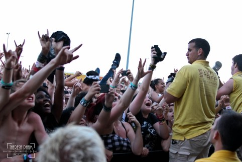Crowd During Black Veil Brides' set at Chicago's Warped Tour