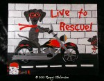 Pet Rescue Art, Graffiti Art, Dog Painting, Dog Mom Gift