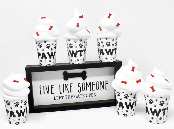 Pupperccino Cups, Dog Party Favors, Paw Print Party Favors, The Misfit Manor Shop