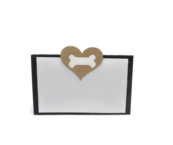 Brown and White Dog Party Place Cards, The Misfit Manor Shop