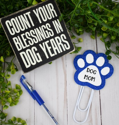 Blue Dog Mom Planner Clip, The Misfit Manor Shop