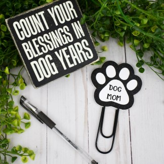 Dog Mom Planner Clip