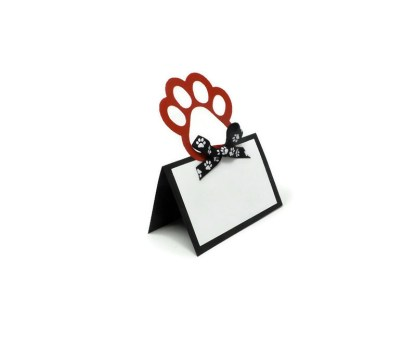 Paw Print Dog Party Place Cards, The Misfit Manor Shop
