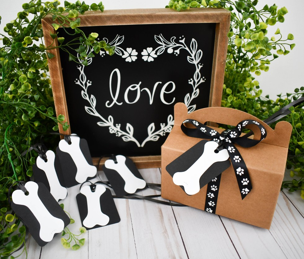 White Dog Bone Gift Tags, The Misfit Manor Shop