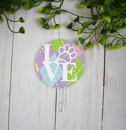 Purple Dog Mom Planner Clip Set - The Misfit Manor Shop