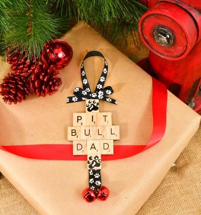 Pitbull Dad Ornament
