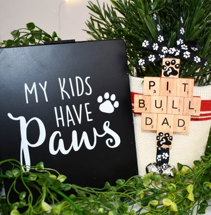 Pitbull Dad Gift Ornament