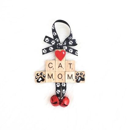 cat mom christmas ornament