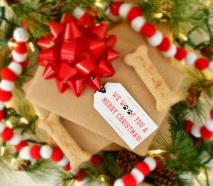 Paw Print Christmas Gift Tags