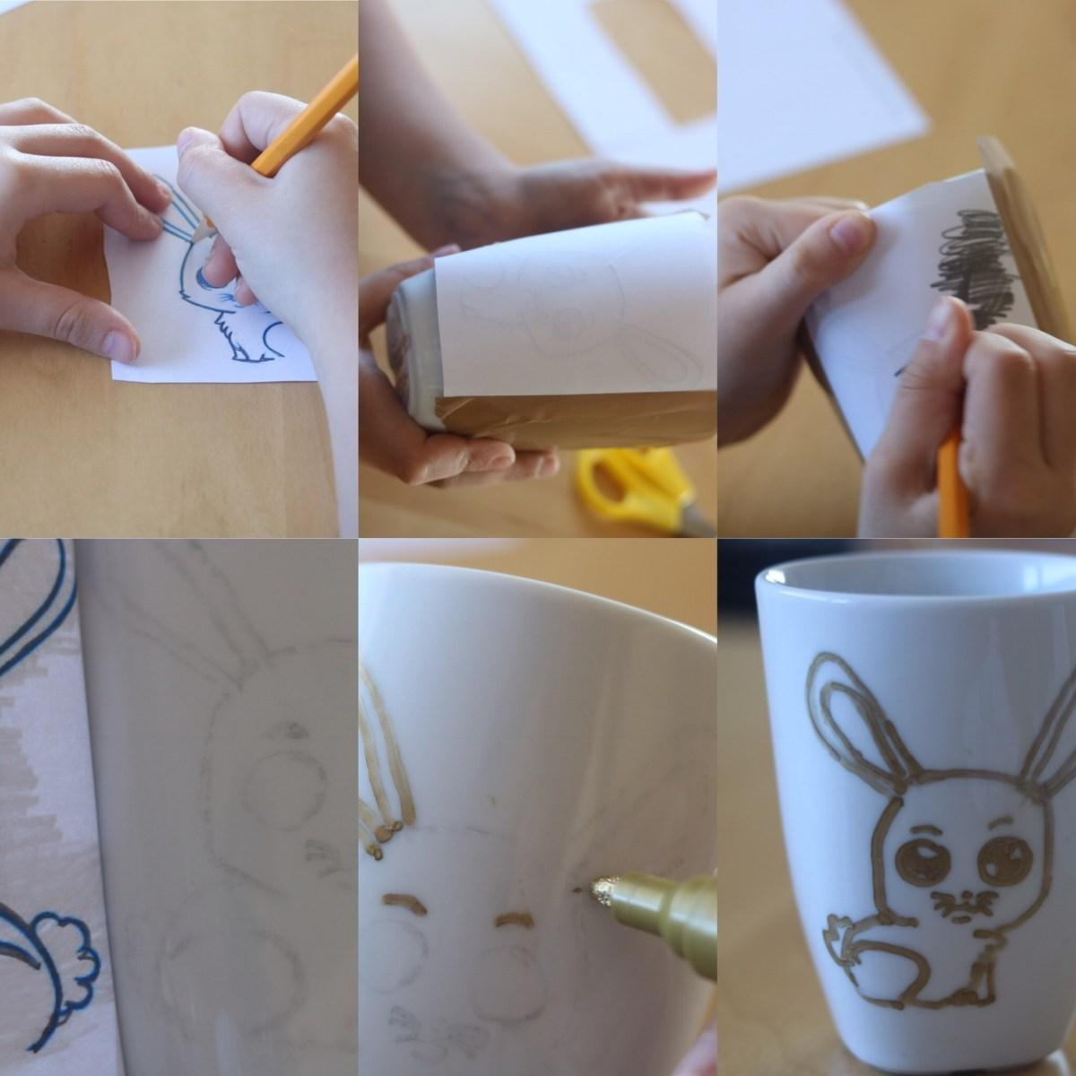 tasses cadeau pâques enfant bricolage diy thereseandthekids