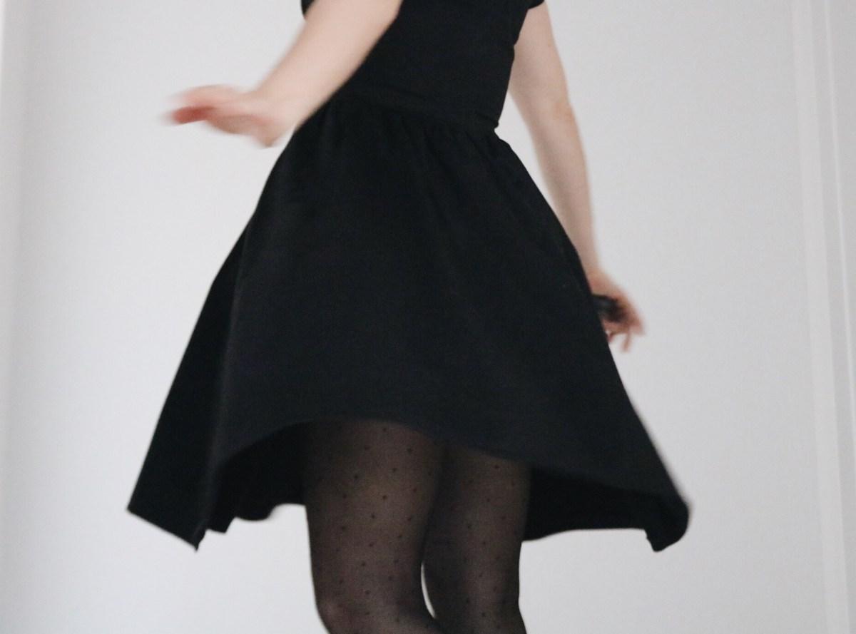 mode robe noire thereseandthekids anne sophie villard blog suisse