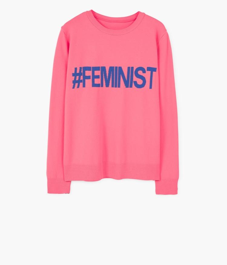 Pull Rose feminist blog suisse maman thereseandthekids