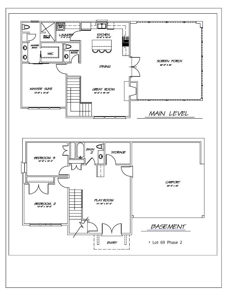 THE RESERVE lot 69 floor plan no logo