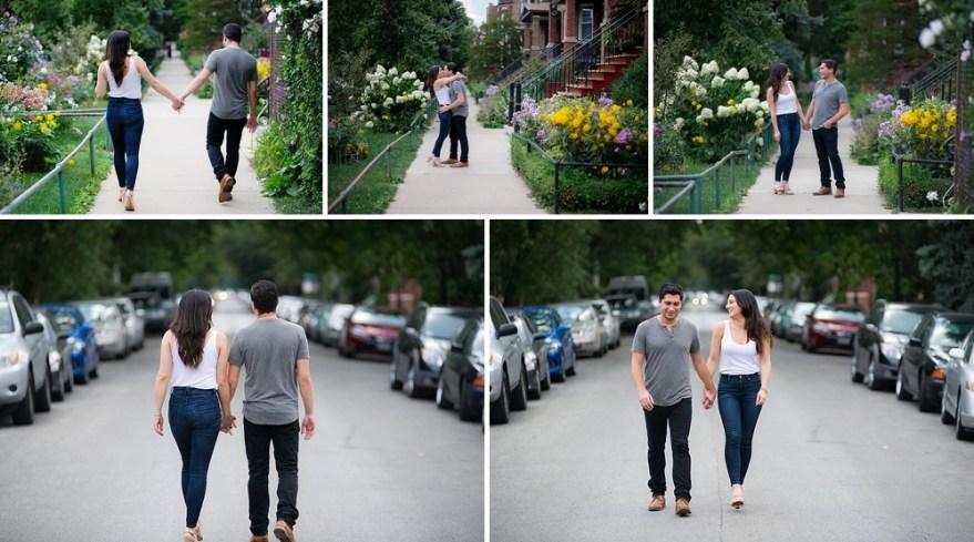 Chicago neighborhood engagement photos