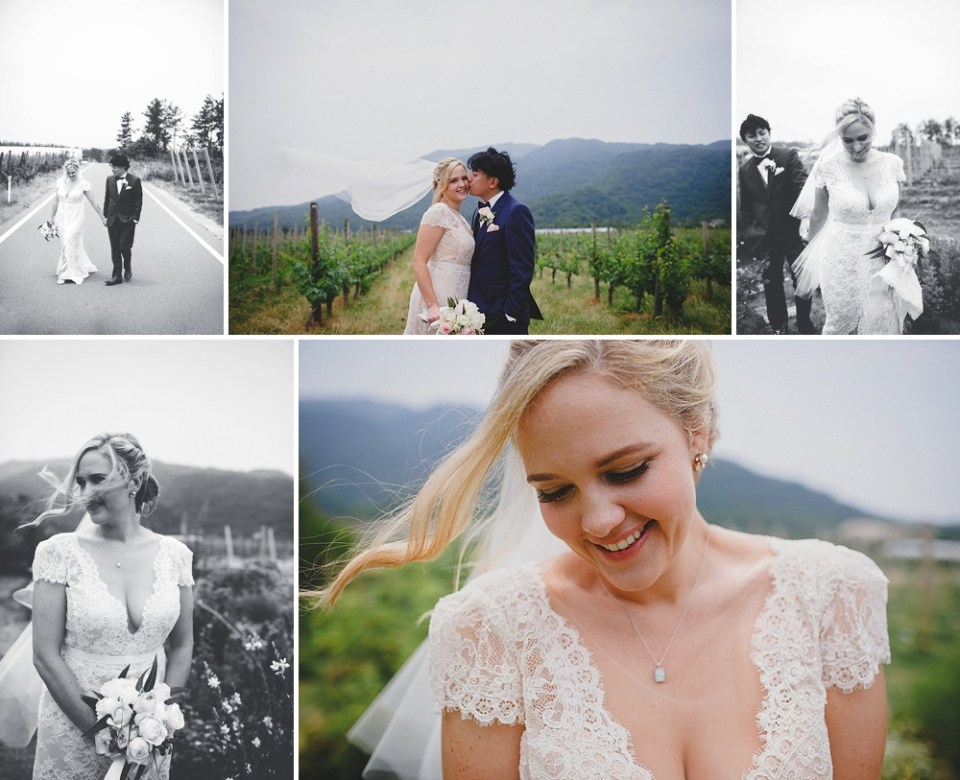 wedding photos with mountains background