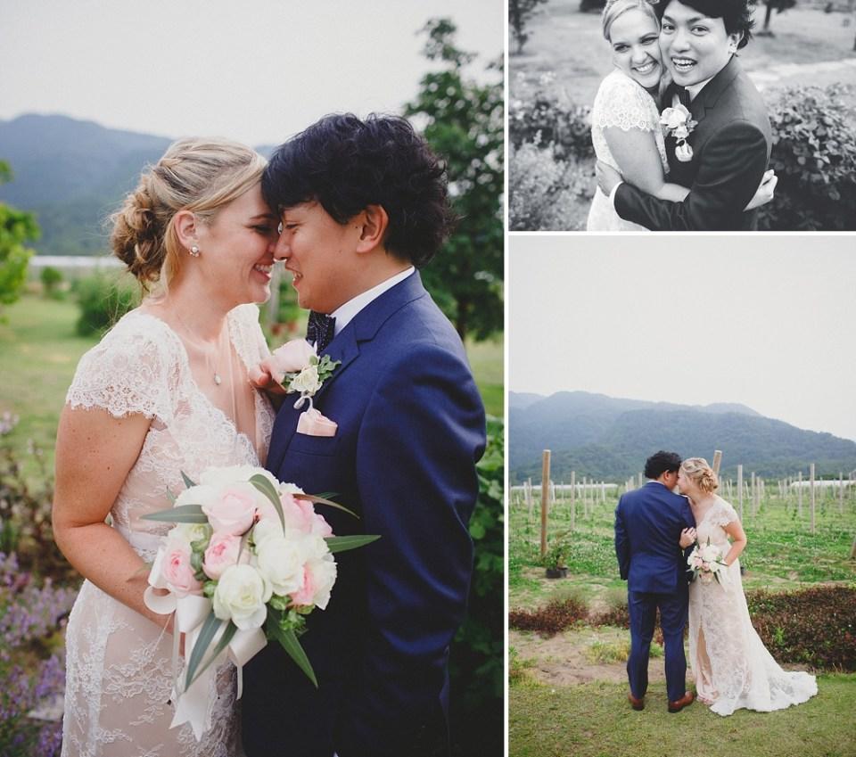bride and groom portraits in Japan
