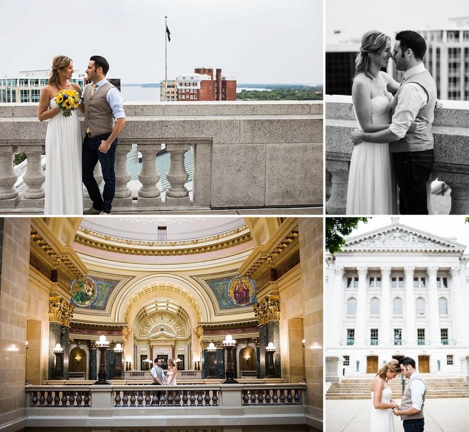 Wisconsin capitol wedding photos