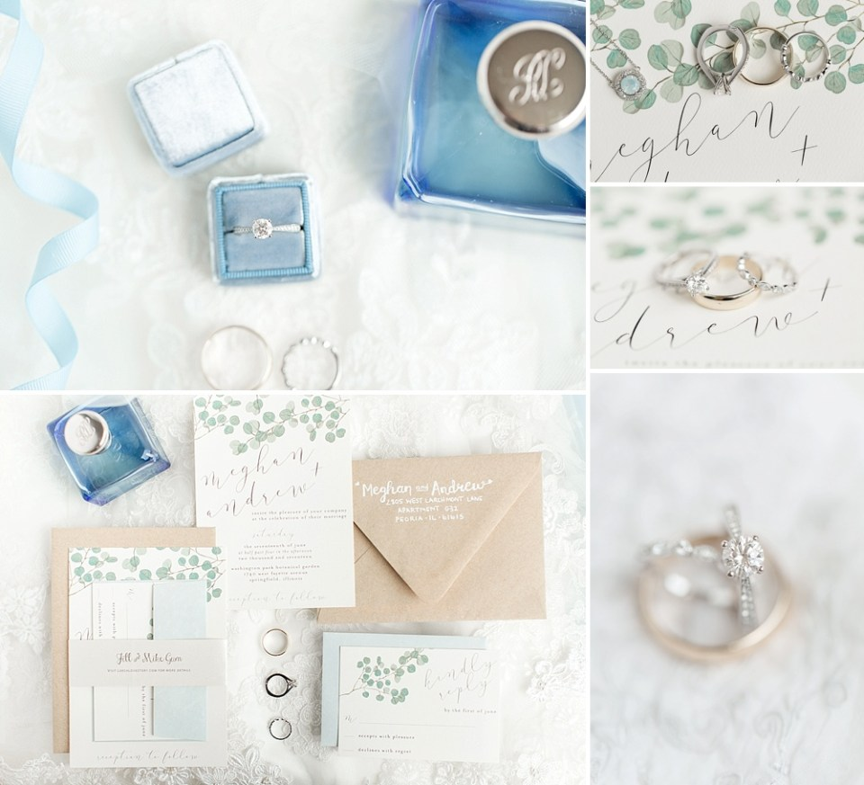 light blue wedding details