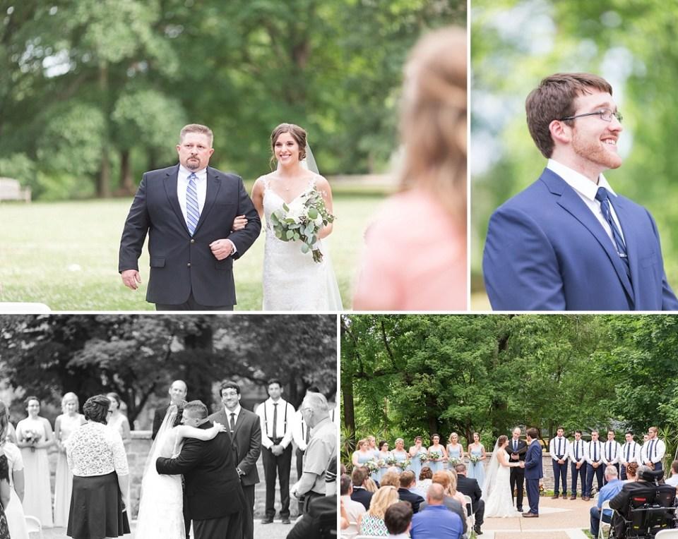 wedding ceremony in the park