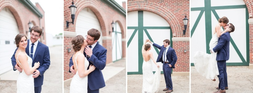brick barn door wedding photos