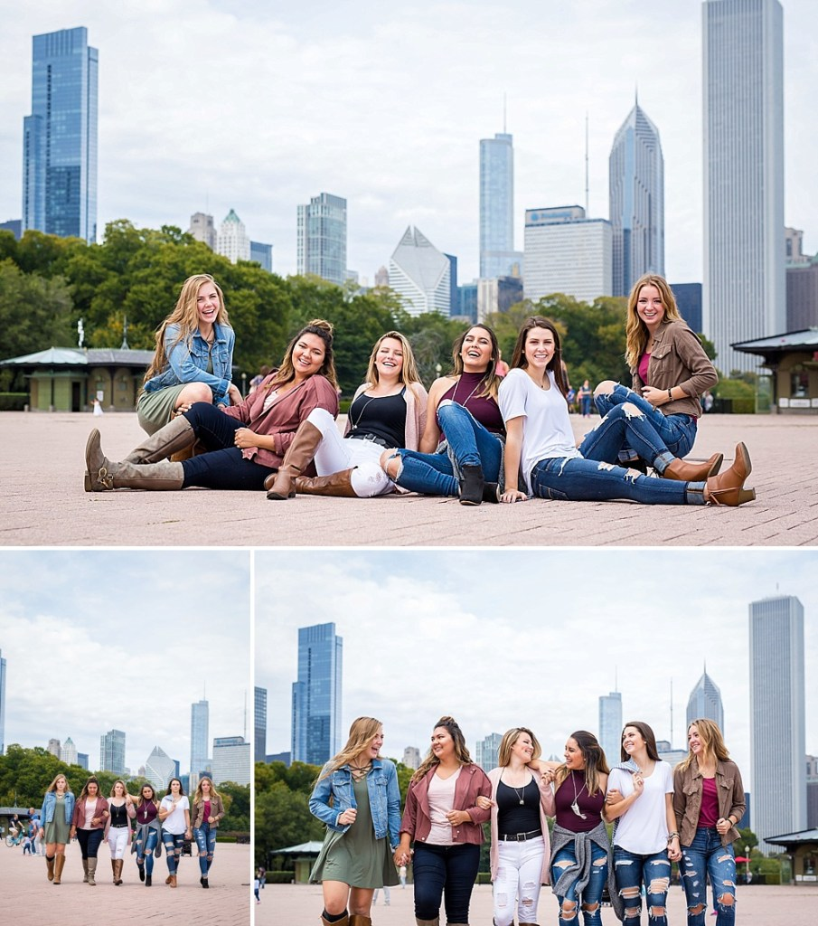 Chicago city skyline senior pictures