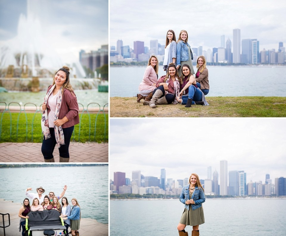 senior pics at Lake Michigan in Chicago