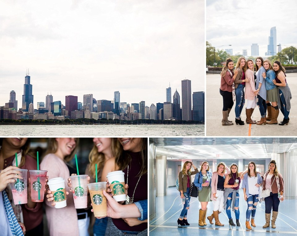 mager image seniors on a starbucks run in Chicago