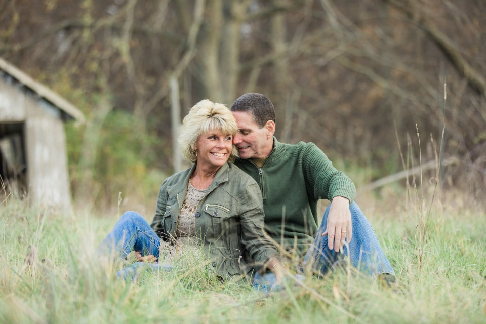 senior photo session with a couple images of parents