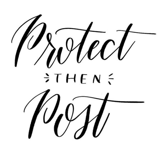 Protect then post your website and social media