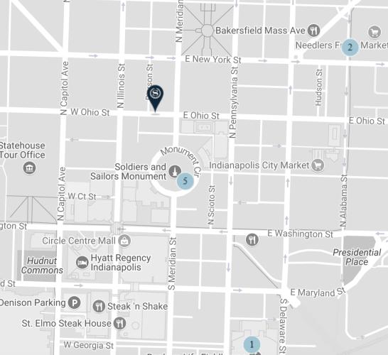Sheraton City Centre map