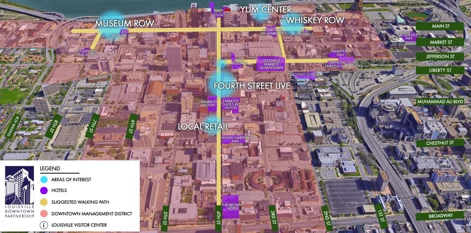 Louisville walking map
