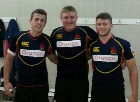 U18 Spain players Christian King, Ryan Edwards, Sam Parry