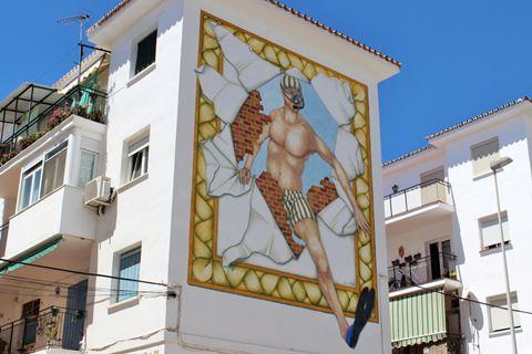 Estepona mural Angel el buceador
