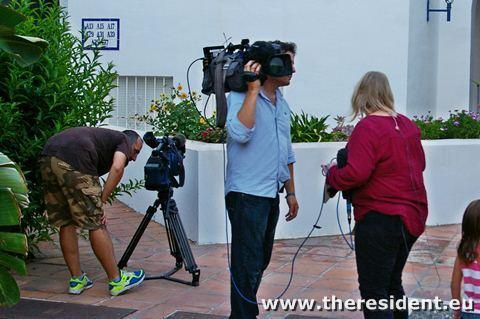 News teams at Casares del Mar