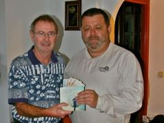 Steve Cheshire donation to St George Charity