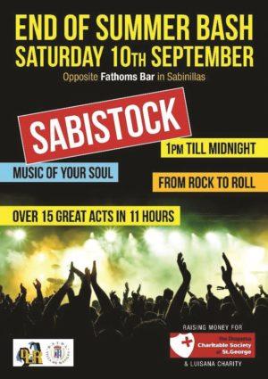 Sabistock, end of summer bash