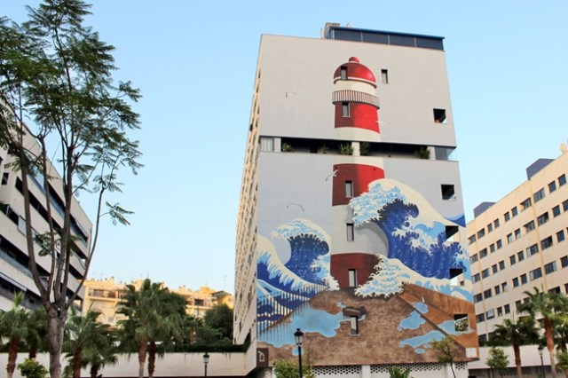 Estepona lighthouse mural