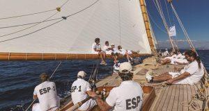 The yacht Hispania