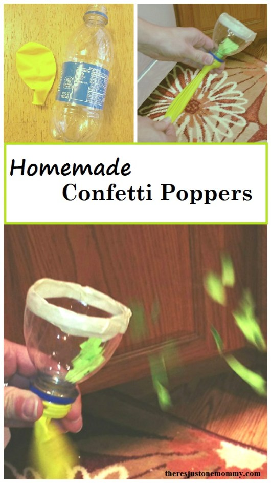 homemade confetti popper: simple DIY confetti popper that is perfect for a kid-friendly New Years