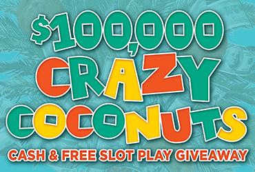 $100,000 Crazy Coconuts Drawings Rampart Casino Las Vegas Slots