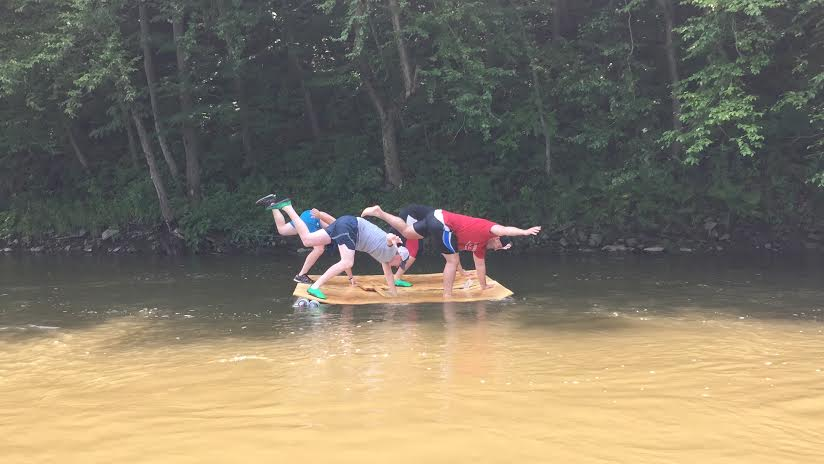 Zac's PVC pipe raft
