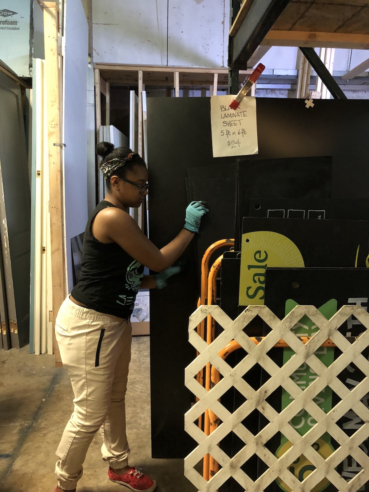 Asya completes her senior project at the re!