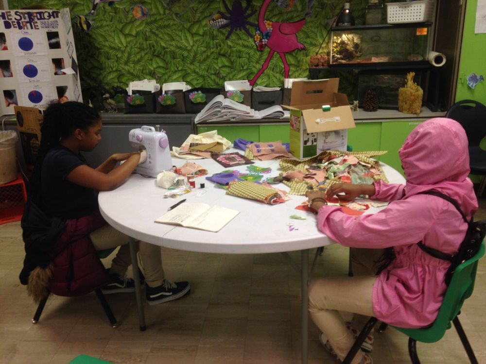 Read more about the article Student Art Using Reclaimed Fabric!